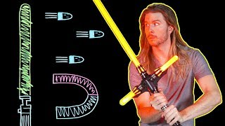 Can a Lightsaber Block Bullets? (Because Science w/ Kyle Hill)