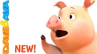 🐷 The Farmer in the Dell | Nursery Rhymes and Baby Songs from Dave and Ava  🐷