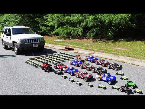 How Many Toy Cars Does It Take To Pull A Real Car