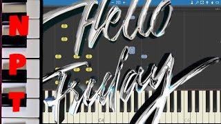 Flo Rida ft. Jason Derulo - Hello Friday - Piano Cover Version - Synthesia