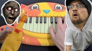 GRANNY'S HOUSE SONG - FGTEEV BUT IT'S PLAYED ON A CAT PIANO, A CHICKEN AND IPHONE