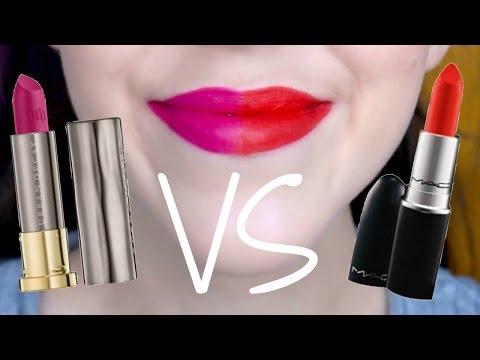 Half Half Review | Urban Decay Vice Lipstick VS MAC Lipstick