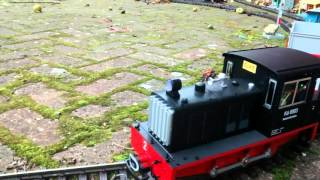 LGB locomotive 22620 converted to remote controlled battery using Deltang