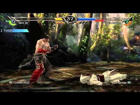 Soul Calibur V - Devil Jin & Dante VS Ezio & Natsy