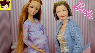 Muñeca Barbie Embaraza con Bebe Recien Nacido y Abuelita de Barbie + Armamos el Cuarto del Bebe