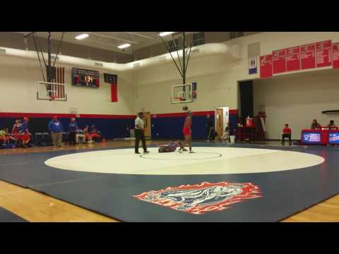 Voyager Academy High School VAHS wrestling vs Louisburg HS Match 9