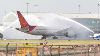 Air India 787 Dreamliner - inaugural Birmingham flight