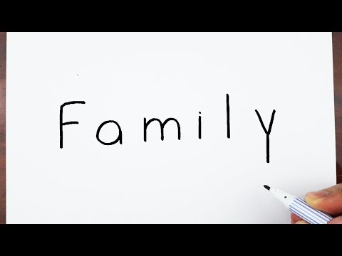 Xxx Mp4 How To Turn Words Family Into Cartoon Art Drawing Doodle Art On Paper 3gp Sex