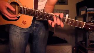 How to play Te Amo - Trevor Hall on the guitar - chords and strumming pattern
