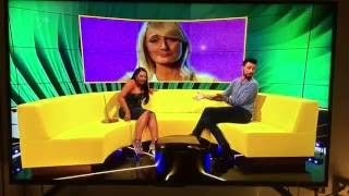 Big Brother star twerk, the zip ripped off on live TV