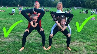 EXTREME Yoga Challenge with Elliana & Lilliana from DANCEMOMS!!!