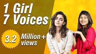 Mimicry of bollywood actresses Alia Bhatt,Kangana Ranaut,Shraddha Kapoor and many from serials