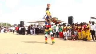 Gule Wamukulu entertaining Zanu (PF) supporters at a star rally in NORTON
