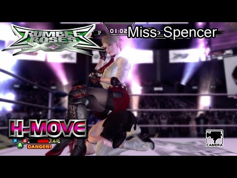 Rumble Roses XX Miss Spencer Humiliation Move (H-Move / H-K.O.)