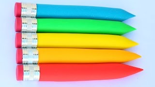 DIY How To Make Colors Play Doh Pencils Learn Colors Play Doh Mighty Toys