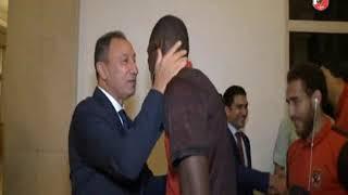 الكابتن محمود الخطيب يستقبل بعثة الاهلى بفندق الاقامة عقب الفوز امام الترجى