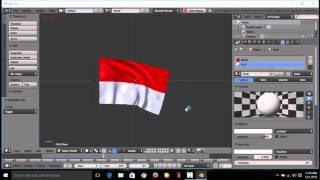 Tutorial bendera berkibar di aplikasi blender untuk pemula