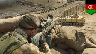 UK sniper kills six Afghan insurgents with a single bullet in 2013