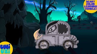 Umi Uzi | learn colors with monster cars | color song for kids | cartoon cars | vehicle videos