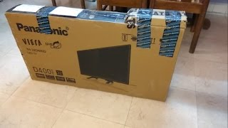 Panasonic TH-32D400D 32 inches HD Ready LED TV - UNBOXING