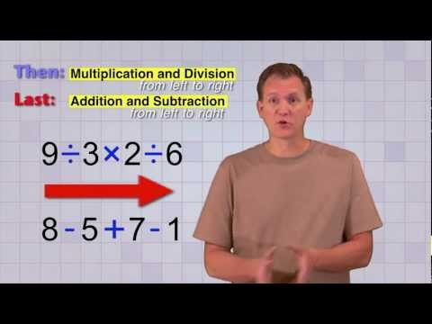 Math Antics Order Of Operations