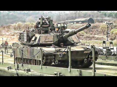 watch U.S. Army Builds Floating Bridge & Crosses It With Tanks