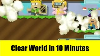 Growtopia #14 - How to Clear World in 10 Minutes with 0 wl