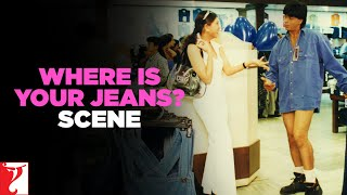 Scene: Dil To Pagal Hai | Where is your Jeans? | Shah Rukh Khan | Madhuri Dixit | Karisma Kapoor