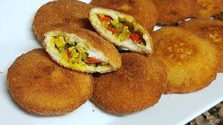 أسرع فطائر مقرمشة  بدون عجين وبدون فرن بحشوة لذيذة جدااا / شهيوات رمضان