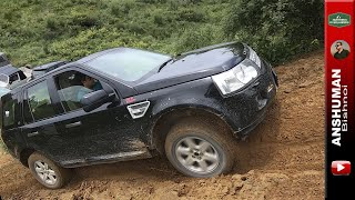 Gypsy toppled 😲 + OFFROADING with Land Rover Freelander 2, Endeavour, Fortuner