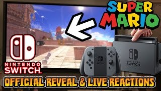 NINTENDO SWITCH REVEAL & LIVE REACTIONS W/FACECAM - New Super Mario Game?