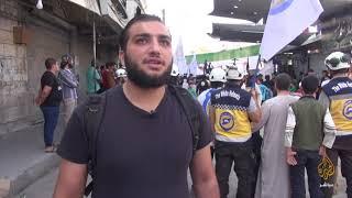 """أريحا..  تضامن واسع مع """"الخوذ البيضاء"""" في المظاهرات"""