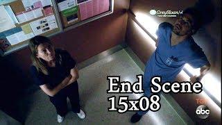 Grey's Anatomy 15x08 Ending Scene  Stuck in Elevator Meredith & Deluca - Amelia Teddy & Owen
