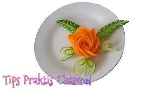 Cara membuat garnis mawar dari wortel - Tips Praktis Channel
