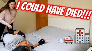 ASTHMA ATTACK PRANK   SHE STARTED HITTING ME!!!!