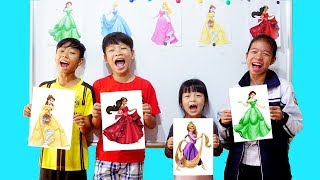 Hunter Kids Go To School Learn Colors Dress Princess | Classroom Funny Nursery Rhymes
