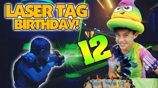 LASER TAG BIRTHDAY!!! Evan