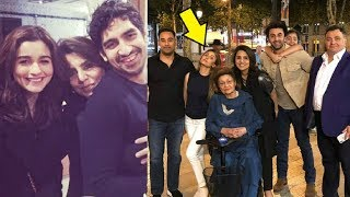 Alia Bhatt With Ranbir Kapoor At His Mother Neetu Kapoor 60th Birthday Celebration In Paris