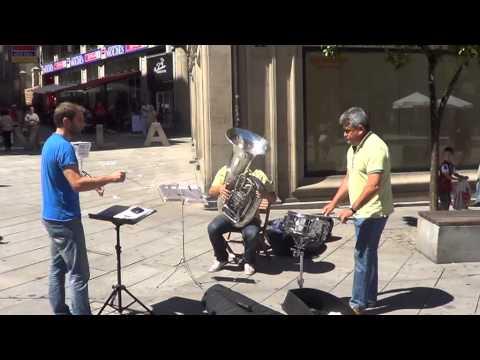 Flashmob Waltz n2 de shostakovich Plaza Curros Enrriquez Pontevedra