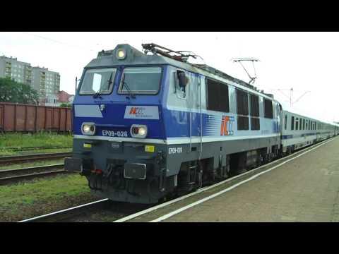 Trains Pociągi Eurocity Euronight i Intercity w Koninie EP09
