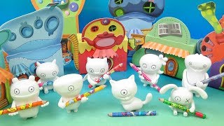 2019 Ugly Dolls set of 8 McDonalds Happy Meal Kids Movie Toys Video Review