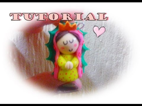 Virgencita porcelana fria TUTORIAL