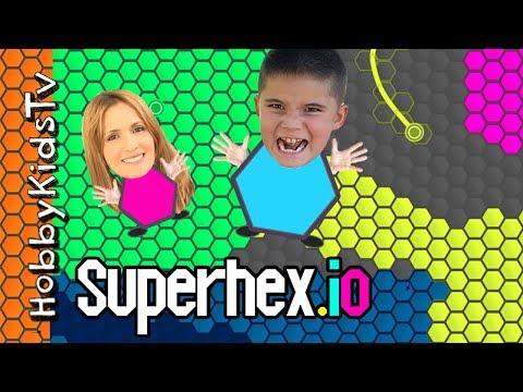Superhex.io NOOB HobbyPig Plays! HobbyMom First Time Playing Game App, Video Gaming Fun HobbyKidsTV