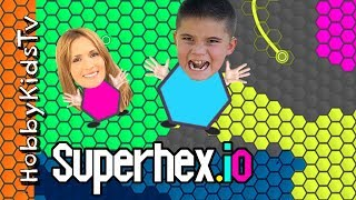 Superhex.io NOOB HobbyPig Plays! HobbyMom First Time Playing Game App, Video Gaming Fun HobbyKidsTV
