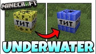 Minecraft - HOW TO MAKE UNDERWATER TNT [ Tutorial ][ Chemestry ] MCPE / Xbox / Bedrock