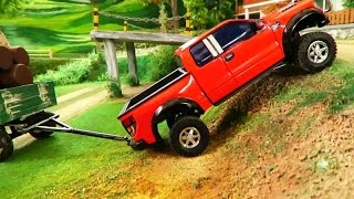 RC TOYS IN ACTION - A new Pick up Truck working on the Farm