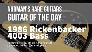 Norman's Rare Guitars - Guitar of the Day: 1986 Rickenbacker 4003 Bass