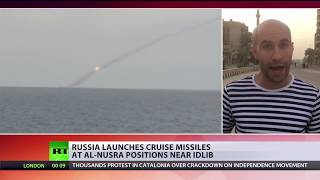 Russian submarine hits terrorist group with Kalibr missiles