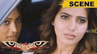 Samantha Follows And Proposes Surya - Love Scene - Sikandar Movie Scenes