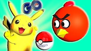 POKEMON GO and ANGRY BIRDS - part 2 ♫  3D animated mashup  ☺ FunVideoTV - Style ;-))